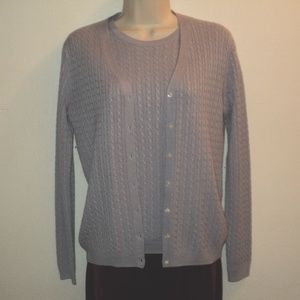 Brooks Brothers Sweater Twin Set Purple Size S, XS